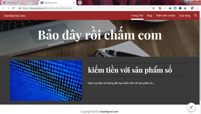 tạo web miễn phí trên google