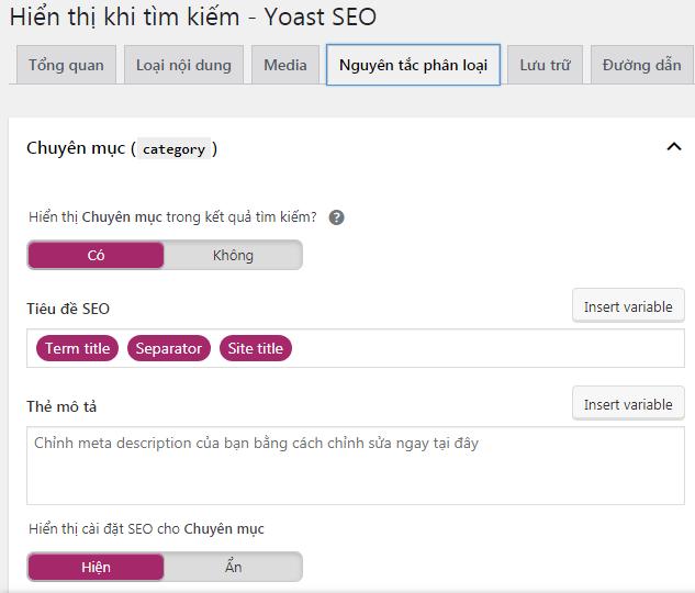 tạo sitemap website với Yoast SEO