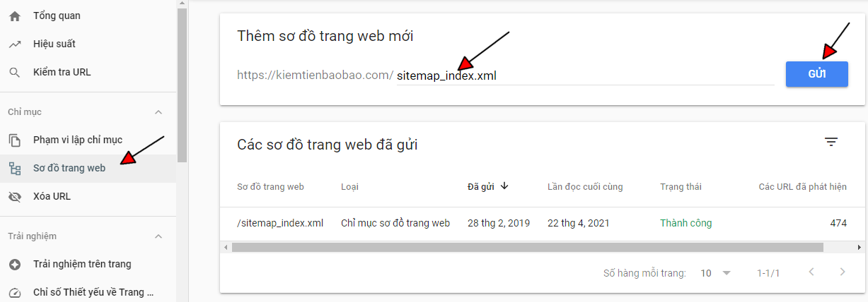 Hướng dẫn submit sitemap lên Google